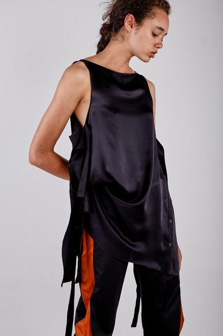 Kahle Snap Side Tunic - Black
