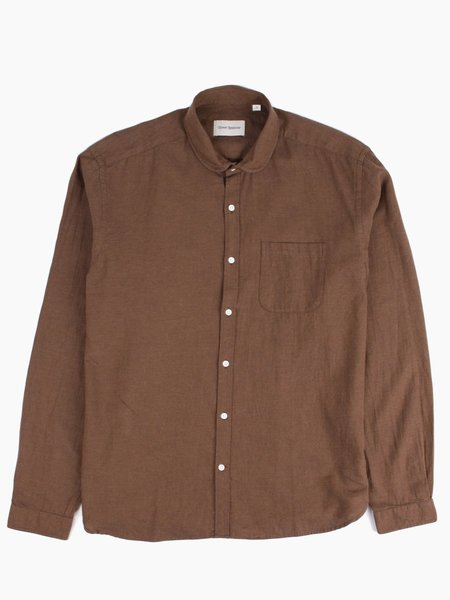 Oliver Spencer Eton Collar Shirt Umber