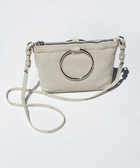 Kara Fog Pebble Leather Ring Crossbody Bag