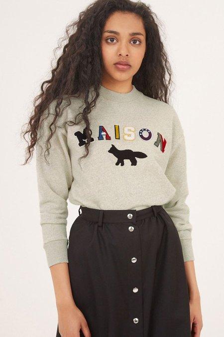 Kitsune Maison Fox Sweatshirt - Ecru Melange