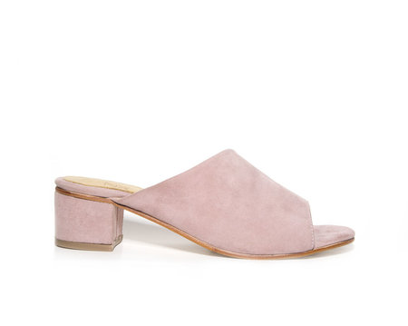 ZOU XOU The Sabine Slide in Peony Suede Instant Ship