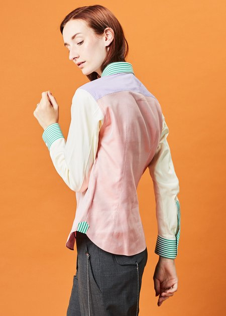 Shiro Sakai Rainbow Sherbet Button-Up Shirt
