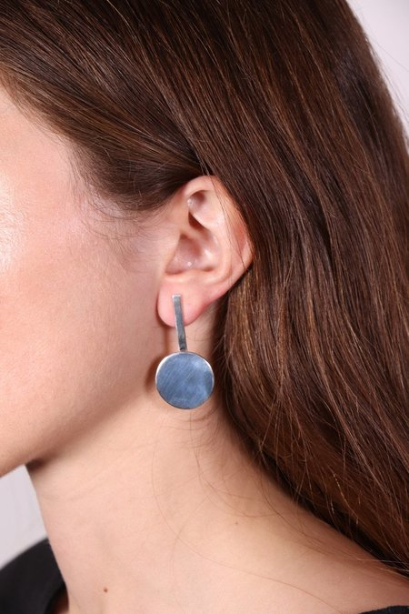 FARIS Dot Drop Earrings - Silver