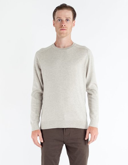 Filippa K Cotton Merino Sweater - Mud Melange