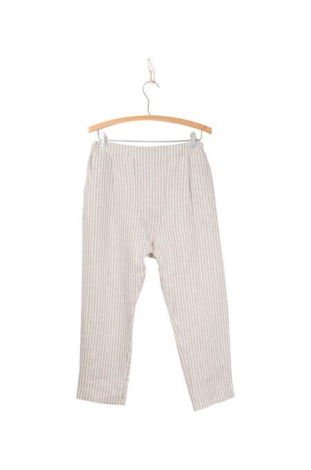 Coast Boardwalk Cropped Trouser - Sandstone Stripe