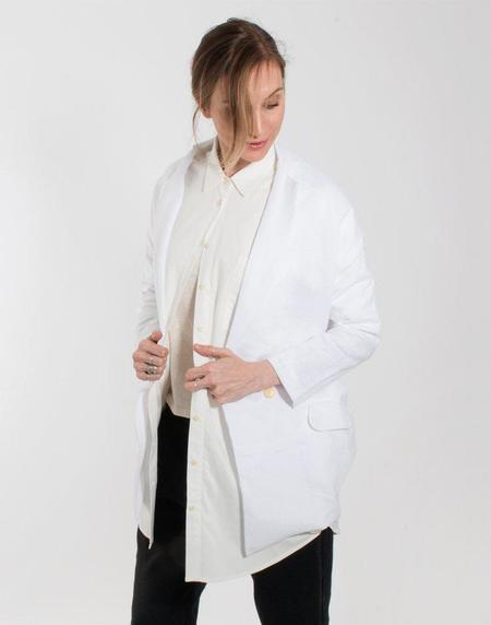 Coast Draped Blazer - White