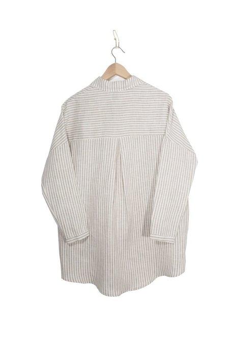 Coast Draped Button Up - Sandstone Stripe