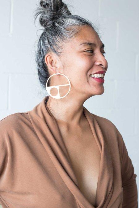 Alynne Lavigne Large Circle Earrings - Gold