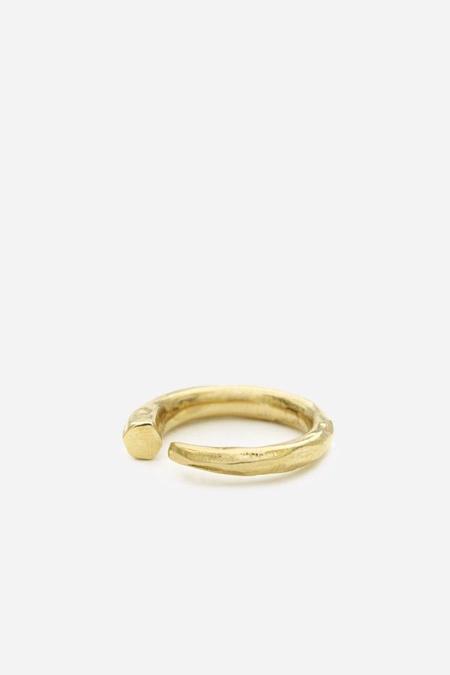 Odette New York Metis Ring in Brass
