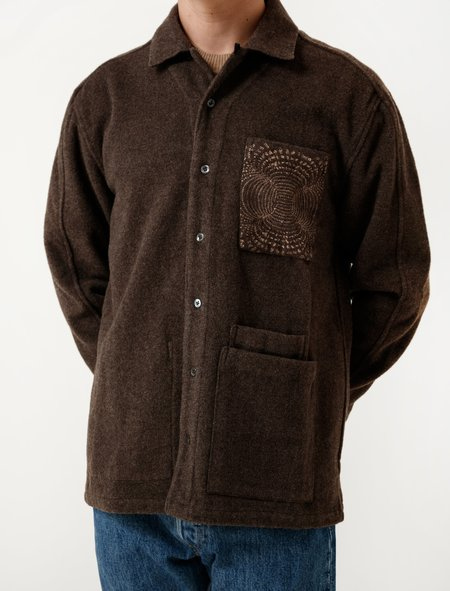 DDugoff Nick Overshirt Morel Wool