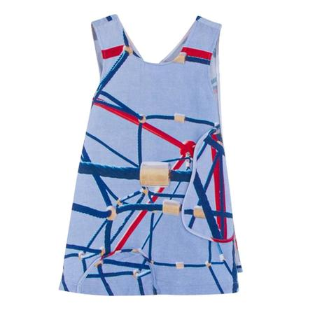 Kid's Slow and Steady Wins the Race Apron Dress - Jungle Gym Print