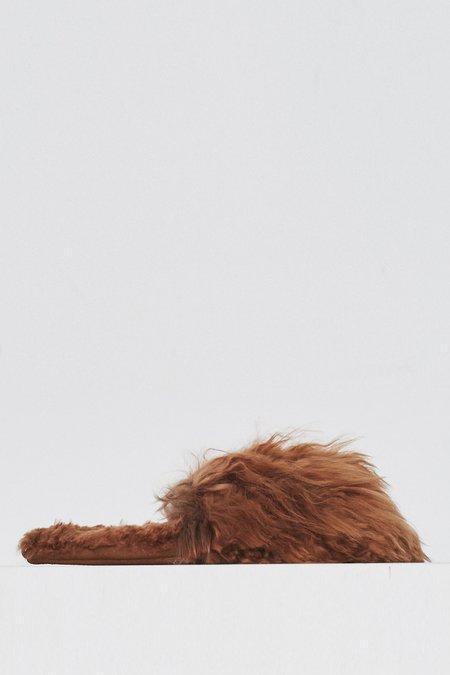 Ariana Bohling Alpaca Suri Slipper - Natural