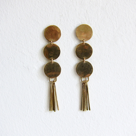 Slantt Studio Lola Earrings - Brass
