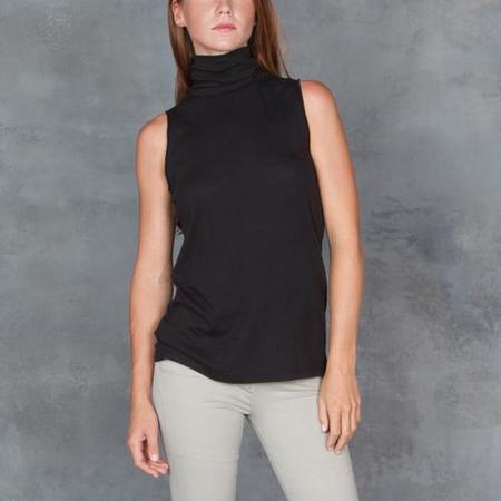 Raquel Allegra Sleeveless Turtleneck Tee