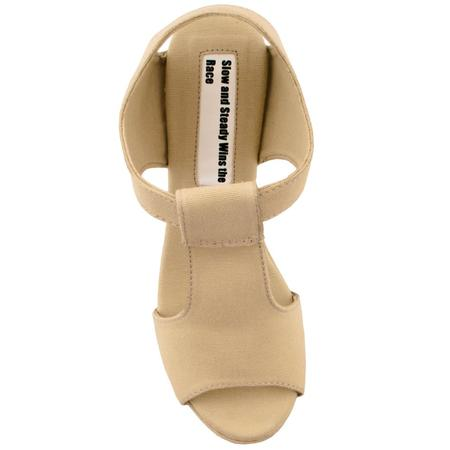 Slow and Steady Wins the Race Wedge Sandal - Khaki