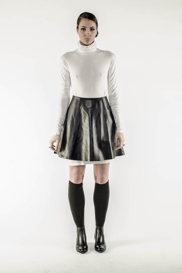Brit Wacher 'Cosmic Slop' Leather Bonded Skirt