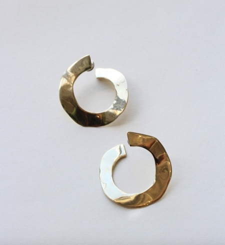 Luiny Irregular Disk Earrings