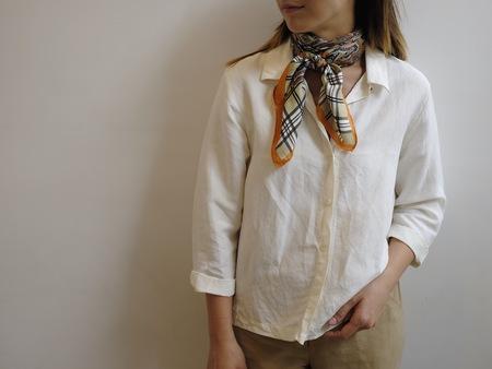 Hey Jude Vintage Ivory Linen + Silk Blouse