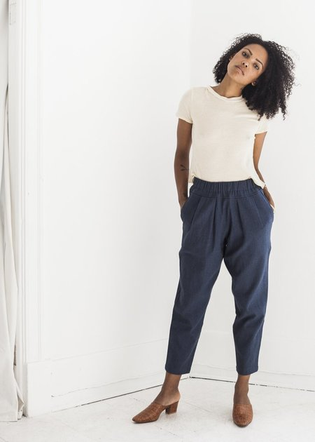 Black Crane Carpenter Pants in Midnight