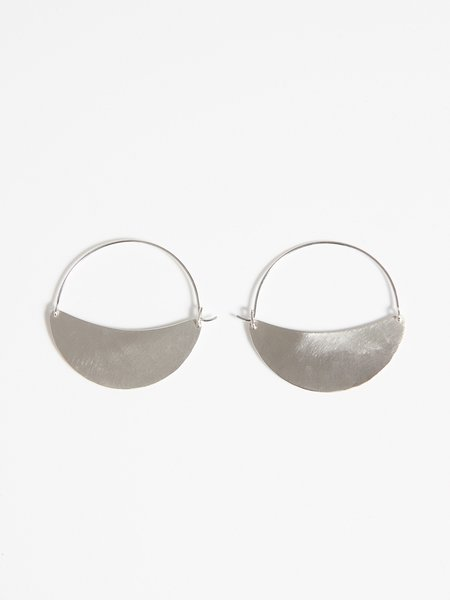Lila Rice Crescent Hoops Small