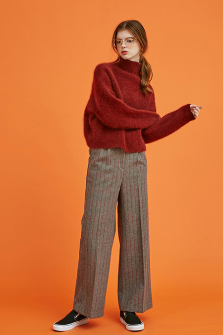Another Angora Wool Knit- Rust