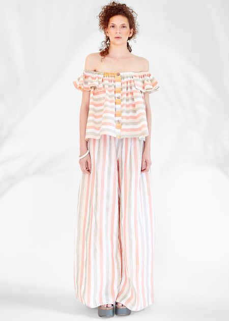 Christine Alcalay Off the shoulder convertible top/skirt