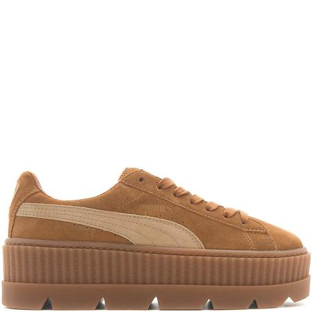PUMA FENTY CLEATED SUEDE CREEPER - GOLDEN BROWN