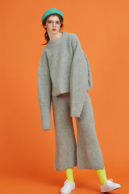 Another Volume Wool Knit- Grey