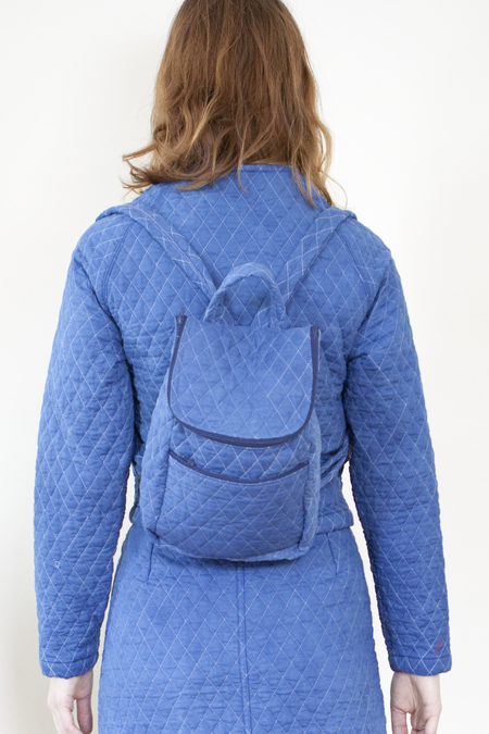 COLORANT QUILTED MINI BACKPACK - INDIGO