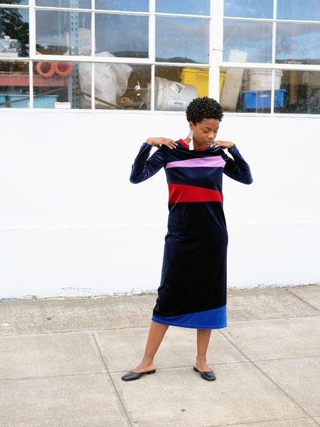 Carleen Velvet Patchwork Dress