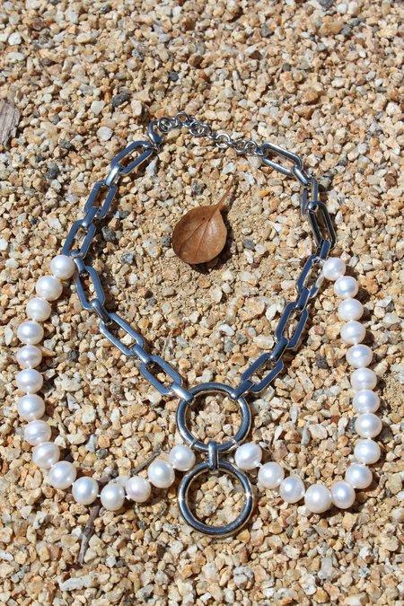 Rachel Comey Sappho Pearl Choker Necklace