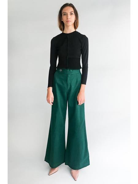 Alexa Stark Patchwork Knit Fitted Shirt