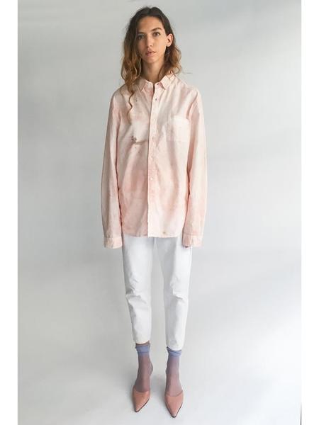 Unisex Audrey Louise Reynolds Oxford Cotton Button Down - Pink/Grey