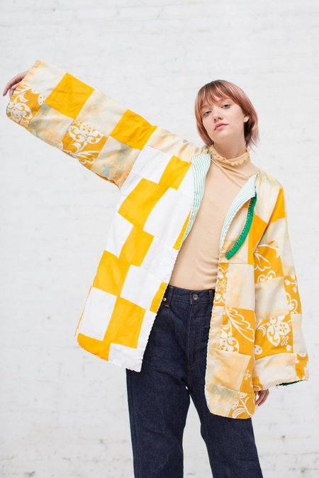 CMC Quilted Jacket in Yellow and Green