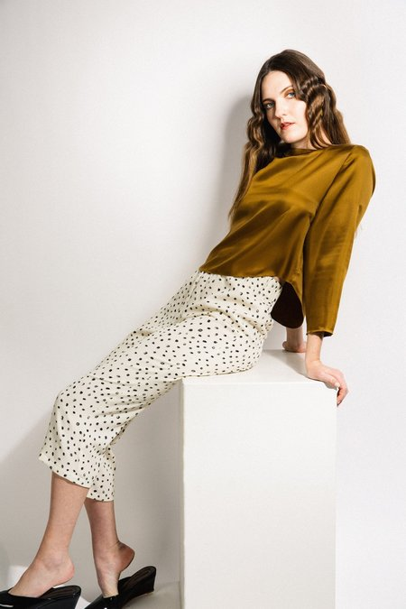 Beth Deck Pants - Dot Crepe