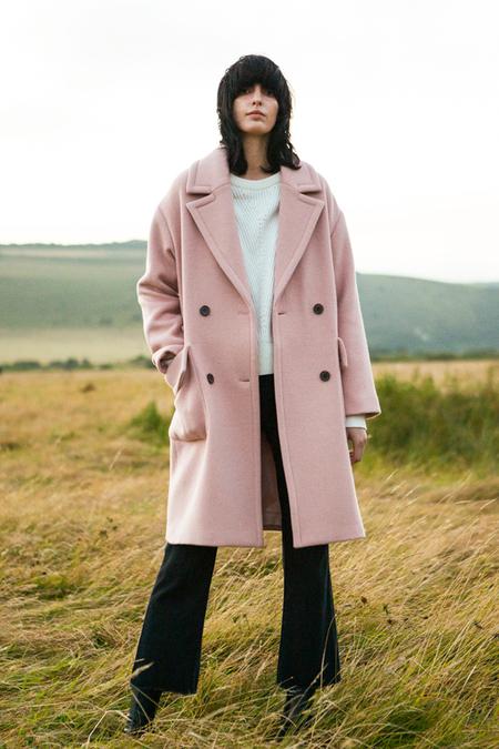 A. B Alice Wool Coat- Pink