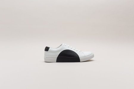 THEY New York Circle Low in White/Black