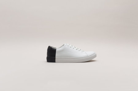 THEY New York Two-Tone Low in White/Black