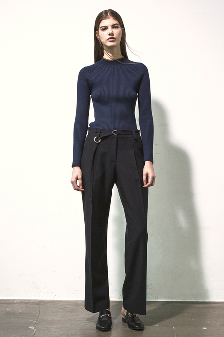 A.B Ribbed Turtleneck Knit- Navy