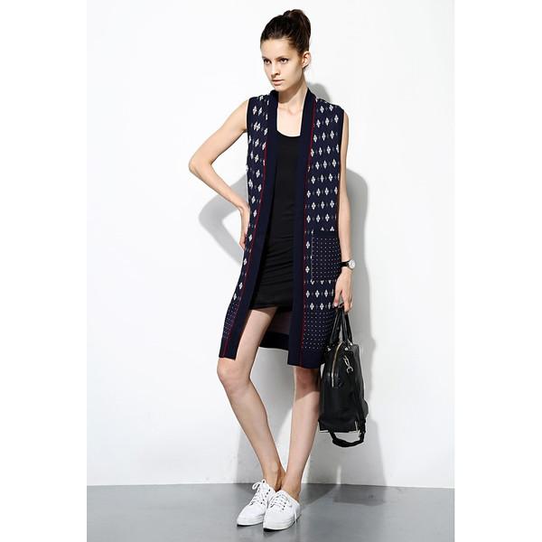 FEW MODA Patterned Knitted Waistcoat