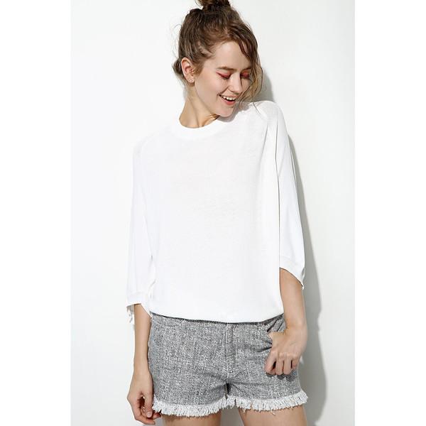 FEW MODA Slouchy Ice Silk Sweater