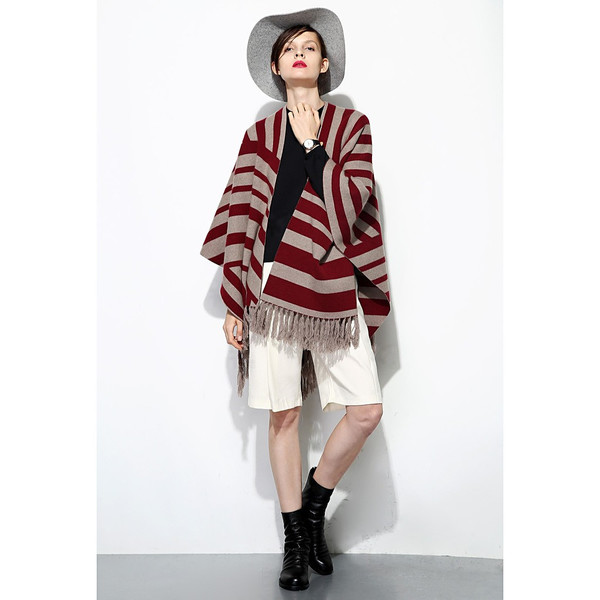 Super Warm Fringe Cape