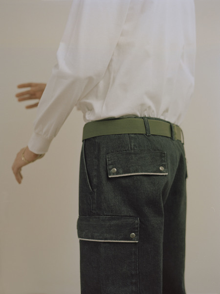 UNISEX I AND ME SELVEDGE DRILL PANTS