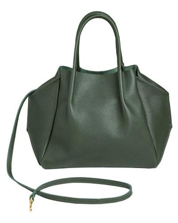 zoe tote in pine pebble cow leather
