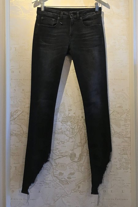 R13 Kate Skinny in Dark Moon with Angled Fray