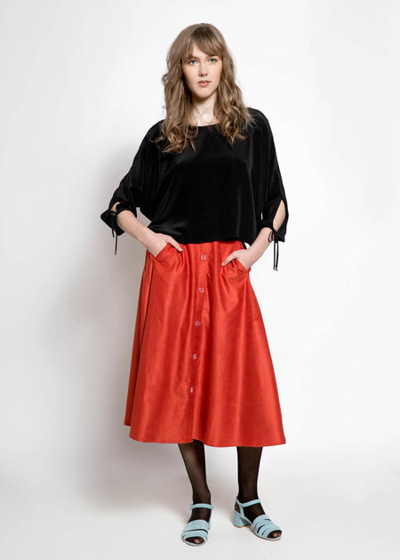Megan Huntz Leslie Cord Skirt