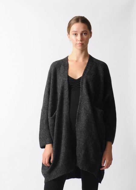 Lauren Manoogian Dark Charcoal Wide Cardigan