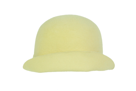 Clyde Aja Hat in Pale Yellow