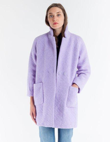 Ganni Fenn Wrap Coat- Pastel Lilac