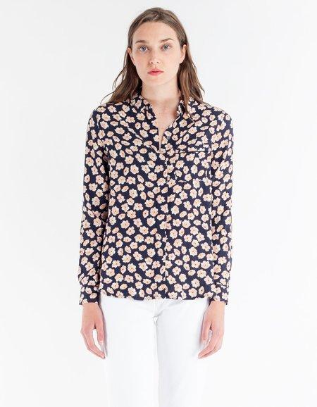 Ganni Montrose Crepe Shirt - Total Eclipse
